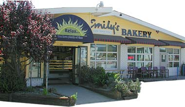Front of Emily's Bakery.